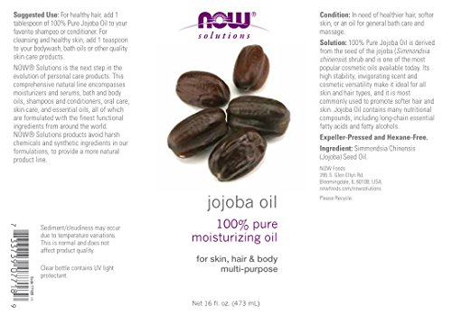 Now Foods Jojoba Oil Pure - 16 oz. 8 Pack