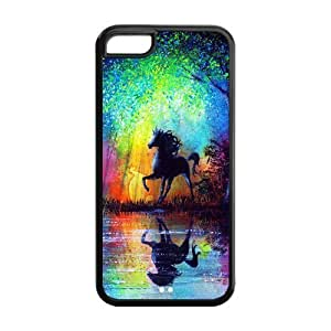 Custom Horse Design TPU Snap On Case Cover Shell Protector For iphone 5c