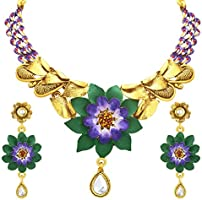 Sukkhi Intricately Crafted Hand Painted Gold Plated Necklac