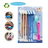 BECREA Dog toothbrush,silicone finger toothbrushes set,for small to large dogs, cats