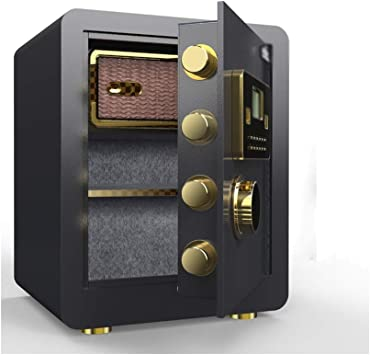 Caja fuerte, Segura, Fuerte Caja de Acero Electrónico Pequeño Segura Ocultar Caja de Seguridad en La Pared Inicio Guardarropa Todo El Acero Oficina de Cajas Fuertes (Color : Black, Size : 2):