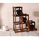 kitchenaid 24 dishwasher - UONQD Wine Rack Wooden Folding Free Standing Bottles Bar Kitchen Wood Stand (B, Brown)