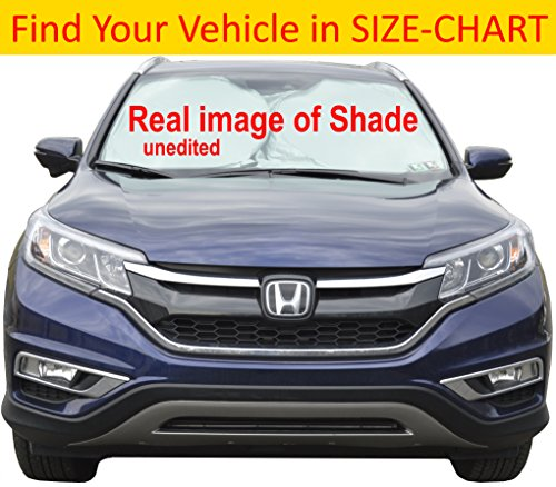Car Sun Shade for Windshield Hassle-Free Size Chart for Your Car Truck Suv Minivan Excellent UV Reflector - Keeping You Cooler with a Pristine Interior Sunshades Easy To Use Medium