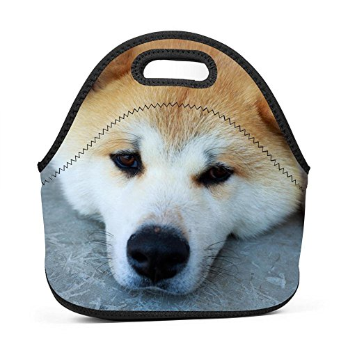 Puppy Lunch Bag Portable Bento Pouch Lunchbox Baby Bag Multi-purpose Satchel Tote for Outdoor Tour School Office Picnic ()