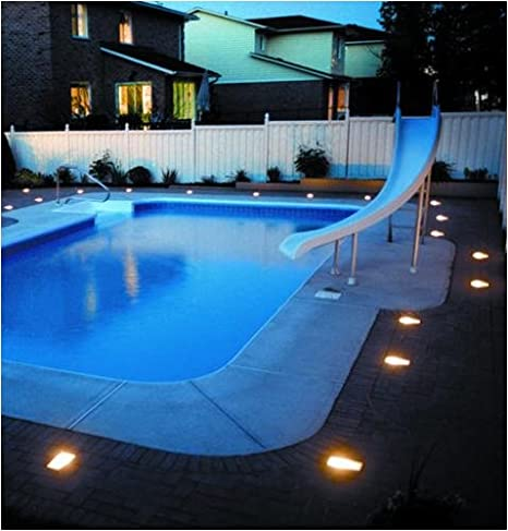 Amazon.com  Kerr Lighting Residential Paver Lights 4  x 8  for Walk Patio Driveway u0026 Pool Deck Installation 14 Pack Installation Kit  Landscape Path ... & Amazon.com : Kerr Lighting Residential Paver Lights 4