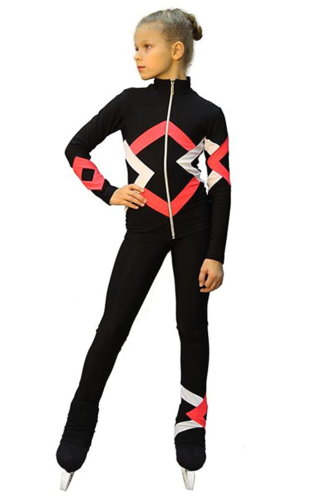 Thermal IceDress Figure Skating Outfit Bauer Black, Coral and White