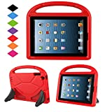 Kids Case for iPad 2 3 4 - TIRIN Shock Proof Convertible Handle Light Weight Durable Super Protective Stand Cover for iPad 4, iPad 3 & iPad 2 2nd 3rd 4th Generation Tablet,Red