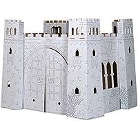 """small foot 10017 Spielhaus """"Burg"""" aus Bastelkarton, detailreiche Gestaltung, ausstanzbare Fenster, Tür zum Öffnen"""