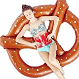 Besde Adults swimming Ring Giant float toys Swim Ring Inflatable Pool Beach Durable Float ring (Coffee)