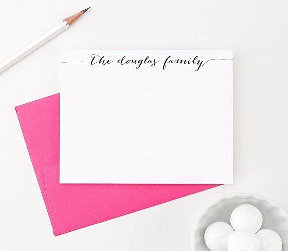 Personalized Family Stationery Set New Home Gift Ideas Personalized Family Note Cards Housewarming Gifts for Couple Your Choice of Colors and Quantity  sc 1 st  Amazon.com & Amazon.com: Personalized Family Stationery Set New Home Gift Ideas ...