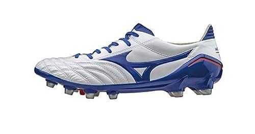 Mizuno - Botas de fútbol de Piel para hombre blanco Bianco  Amazon.es   Zapatos y complementos 8df5d0424e400