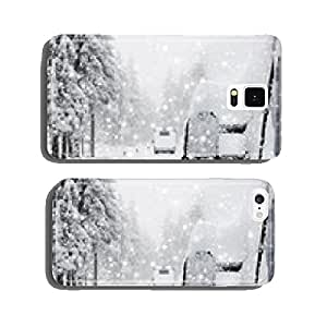 Caravan on snow-covered road cell phone cover case iPhone6