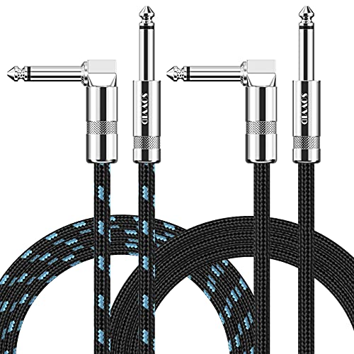 2 Pack Guitar Cable 10ft, Sovvid Instrument Cable...