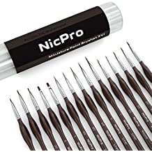 Nicpro Detail Brush Set ,15 Miniature Fine Paint Brushes For Detailing Art Painting Spray,Watercolor,Oil, Acrylic