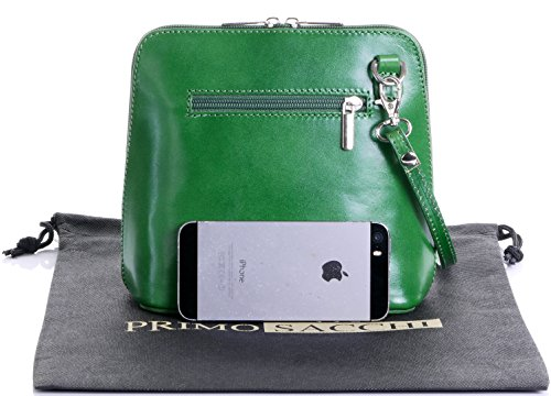 Leather a Italian Genuine Green Includes Bag Small Storage Bag Handbag Shoulder Sacchi Primo Protective Branded tHv4H