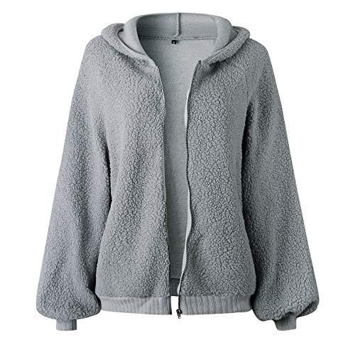 Fermeture Manteau Arrtez clair Chemises Femmes Gris Chemisier Magiyard Manche Vous Encapuchonn Longue Sweat Shirt IWTvq