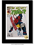 kids art display hanger - Creative Picture Frames CreativePF [8x12bk-w] Collectors Art Comic Book Frame with White Mat, Insert for 6.6x10.1 Comic w/Easel Stand and Wall Hanger