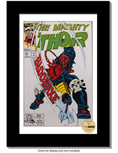 Creative Picture Frames CreativePF [8x12bk-w] Collectors Art Comic Book Frame with White Mat, Insert for 6.6x10.1 Comic w/Easel Stand and Wall Hanger - Exclusive Collector Case