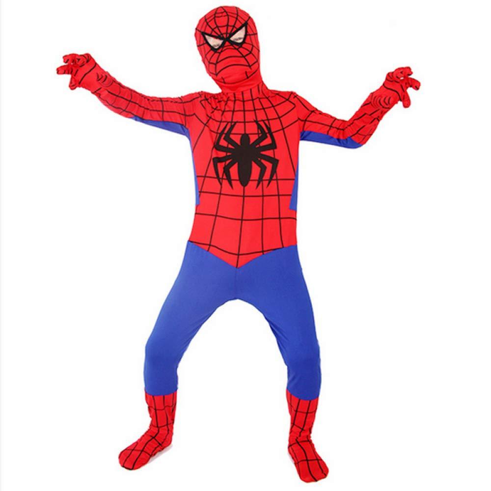DSFGHE Spiderman Cosplay Costume di Halloween per Bambini Siamese Calzamaglia per Anime,160cm-170cm