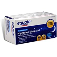 Equate - Nighttime Sleep Aid 50 mg, Maximum Strength, 32 Softgels (Compare to Unisom SleepGels) by Equate