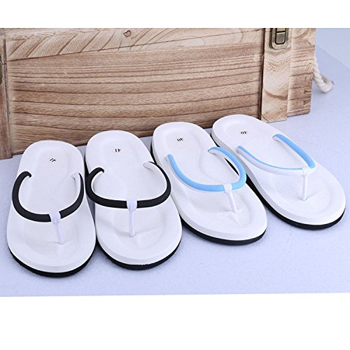 Linyuan Casual Style Mens Flip Flops Summer Beach Sandals Sandalen Shoes Slippers Blue