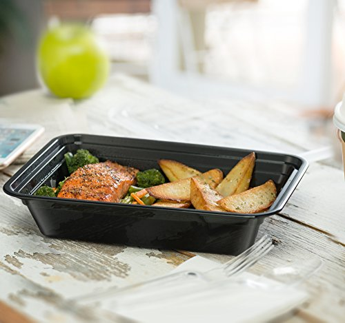 Ez Prepa [20 Pack] 28oz Single Compartment Meal Prep Containers with Lids - Food Storage Containers Bento Box Lunch Box Made of BPA Free Plastic, Stackable, Reusable, Microwavable, Freezer, and Dishw by Ez Prepa (Image #1)'