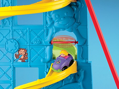 51DloF3ZfUL - Fisher-Price Little People Loops 'n Swoops Amusement Park [Amazon Exclusive]