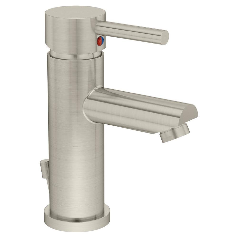 Symmons Dia One-Handle Single Hole Bathroom Faucet with Pop-Up Drain ...