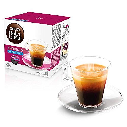 Nescafé Dolce Gusto - Cápsulas de café originales ESSENZA DI MOKA 80 ESPRESSO DECAFFEINATO