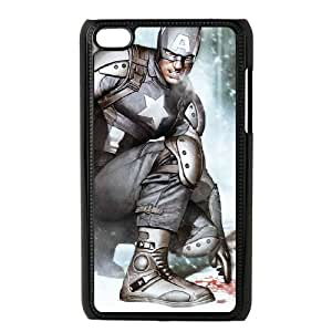 Captain Americ iPod Touch 4 Case Black TPU Phone Case SV_290937