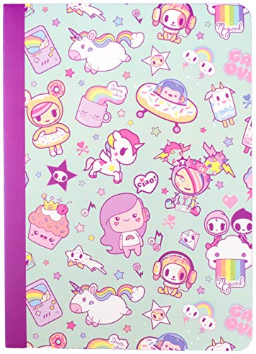 - tokidoki x iHasCupquake Notebook - Cute Pastel Lined Journal Notebook Composition for girls women