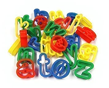 26 plastic playdough cookie cutters a z lower case alphabet letters