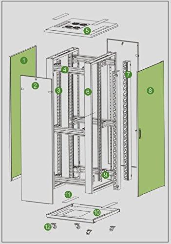 42U Rack Mount Internet/Network Server Cabinet 1000MM (39.5'') Deep by Raising Electronics (Image #5)