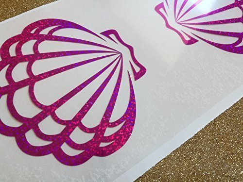 glitter little mermaid seashell bra iron on decal / heat transfer vinyl / gold or silver t-shirt designs / Christmas costume / New years eve costume diy -