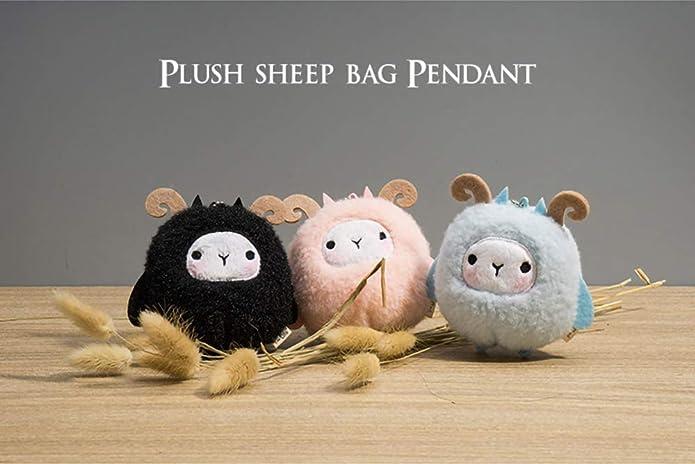 Amazon.com: QTKJ - Llavero con diseño de oveja de felpa para ...