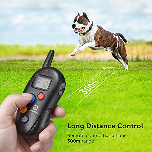 VAVA Pet Dog Training Collar – Rechargeable with 3 Training Modes, Beep, Vibration & Shock, 100% Waterproof Training Collar, up to 330 Yards Remote Range, Dog Training Set by VAVA Pet (Image #3)
