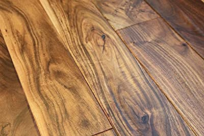 "Elk Mountain Acacia Natural 9/16"" x 4-3/4"" Hand Scraped Small Leaf Engineered Hardwood Flooring AF021 SAMPLE"
