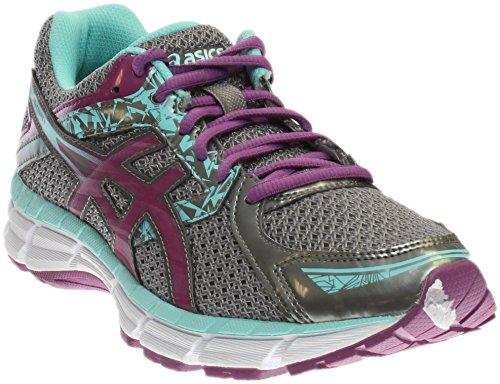 ASICS Women's Gel-excite 3 Running Shoe, Charcoal/Grape/Aqua Splash, 7.5 D US