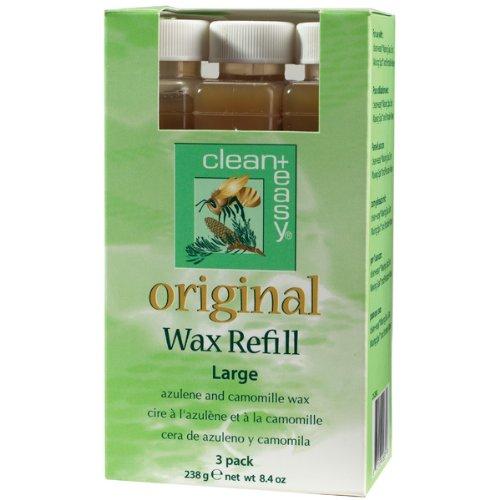Clean + Easy Original Large Leg Wax Refills, 3 Count