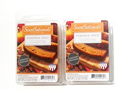 Pumpkin Spice Scented Wax Cubes - Two (2) Packs (2.5 oz each)