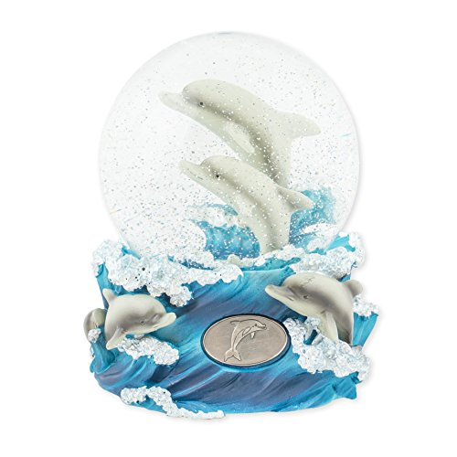 Musical Playful Dolphin Snow Globe