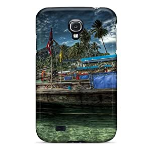 New ZOOqY4740XxeVB Old Boat Hdr Skin Case Cover Shatterproof Case For Galaxy S4