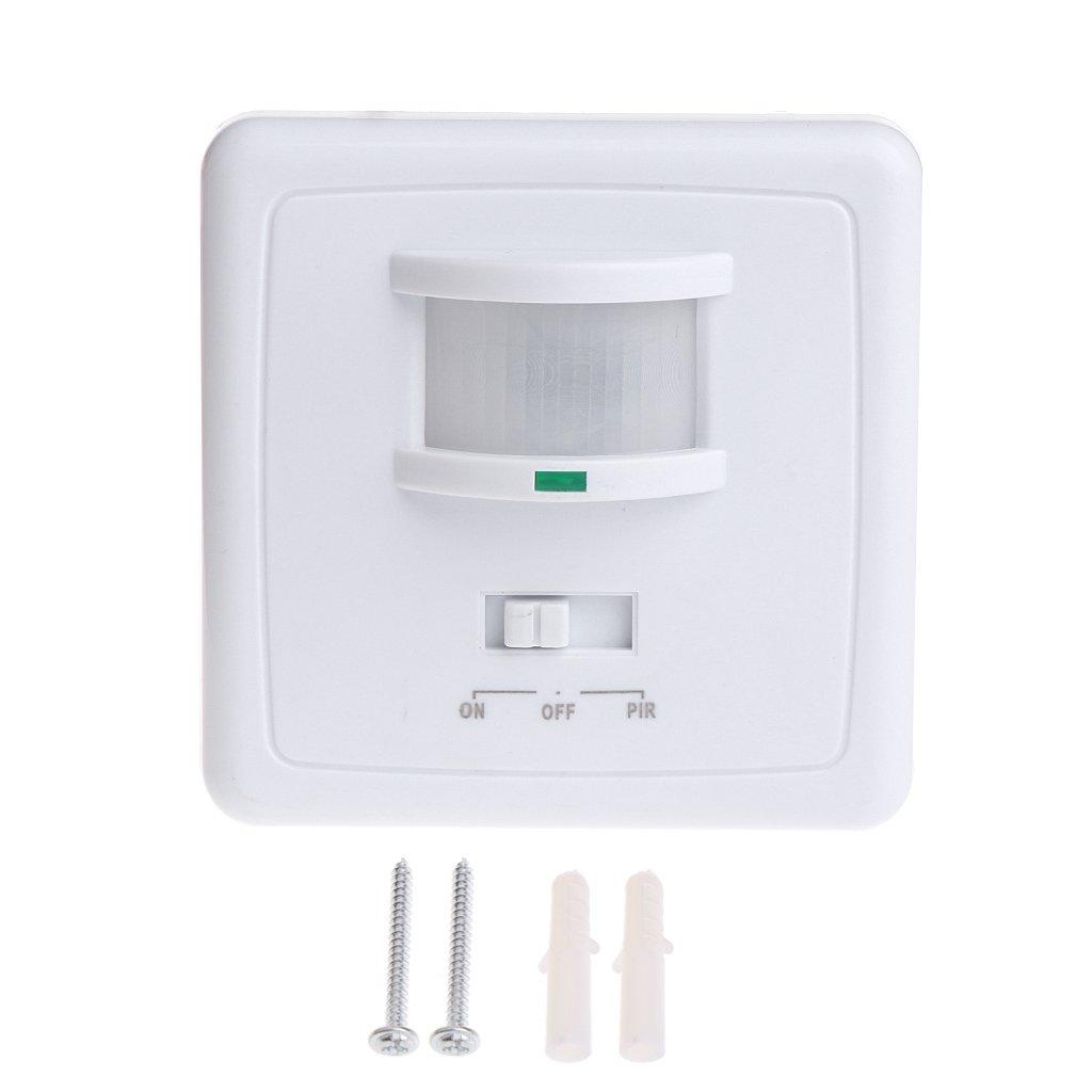 Besttse 220-240V AC Wandmontage 9m Automatischer PIR Infrarot LED Bewegungsmelder