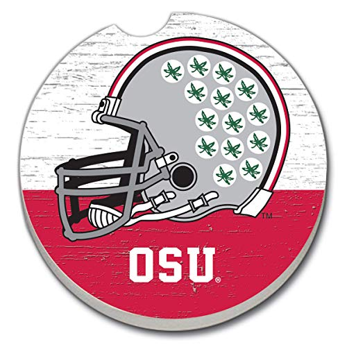 (CounterArt Absorbent Stone Single Fan Car Coaster - OSU Helmet Coaster)
