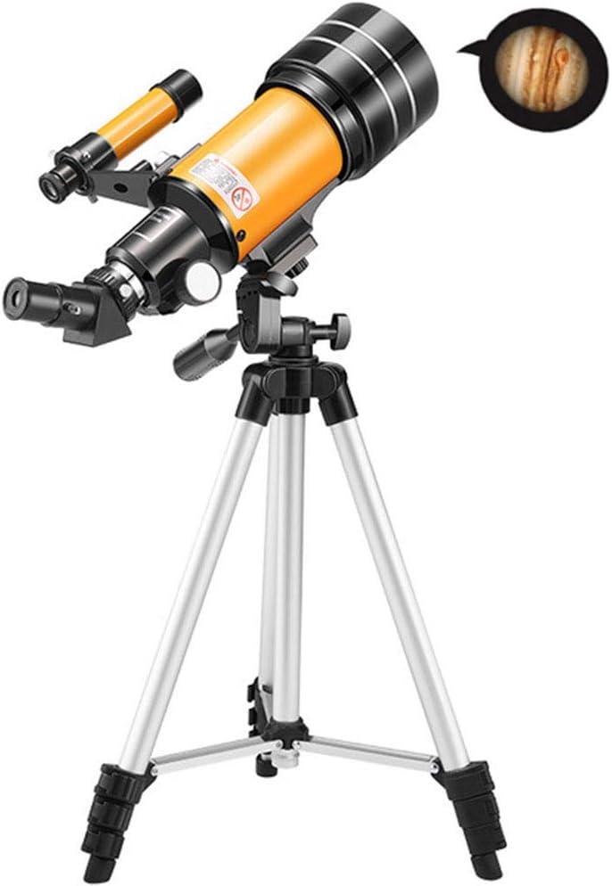 YT Telescopio Astronómico Prismáticos Monocular con Trípode, Binoculares Refractor de Zoom Profesional para Niños Adultos Principiantes