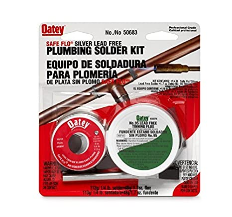 Amazon.com: Oatey 50683 1/4lb Silver Safe Flo Solder by Oatey: Home Improvement
