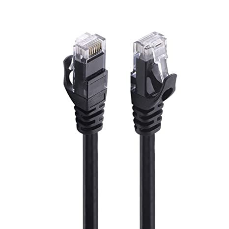 amazon com cat6 ethernet cable 100ft black ealona 250mhz utpcat6 ethernet cable 100ft black ealona 250mhz utp stranded copper patch rj45 cable better than