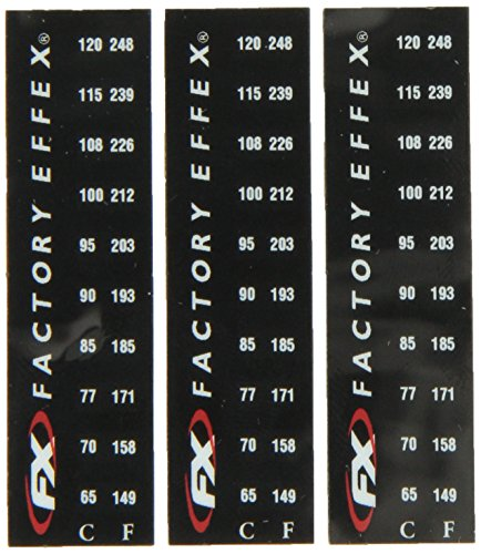 Factory Effex 08-90225 Temp Specialty Sticker, (Pack of 3) - Factory Effex Decals