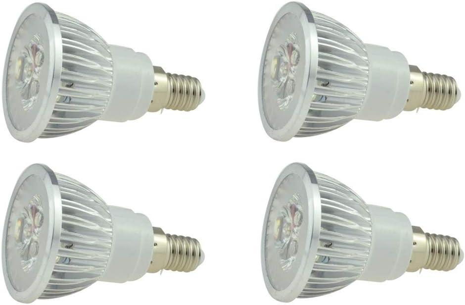 Pack of 4 Equivalent 25W Halogen Bulb Replacement JKLcom E14 LED Bulbs 3W Cool White 6000K LED Spotlight Bulbs for Landscape Recessed Track Lighting,E14 Candelabra Base