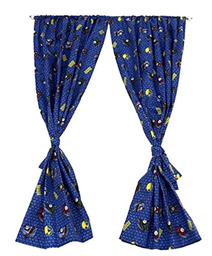 Thomas & Friends Room - Thomas and Friend Window Curtains For Kids Room, Rod Pocket Drapes, 1 Pair with Tie-Backs, Microfiber, 42 x 63 in